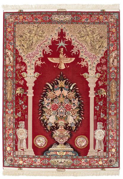 タブリーズ 60 Raj 画像/絵 絹の縦糸 絨毯 VAC61