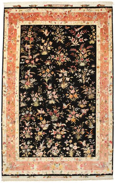 Tabriz 60 Raj silkerenning signert: HOSSEINI teppe VAC129