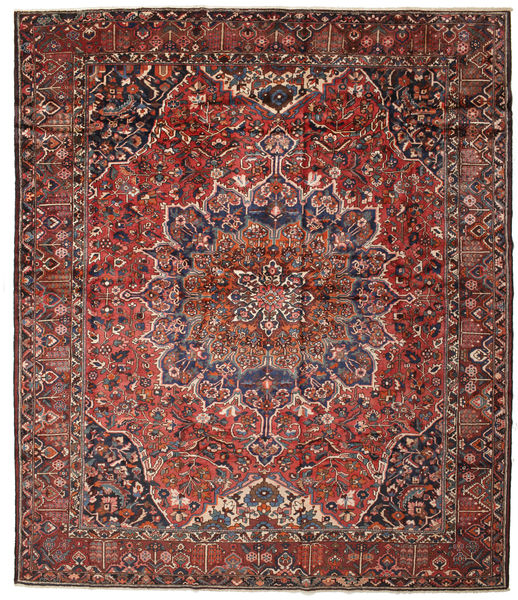 Bakhtiari Rug 393X456 Authentic  Oriental Handknotted Brown/Dark Blue Large (Wool, Persia/Iran)