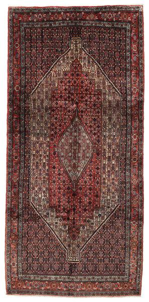 Senneh Matto 150X322 Itämainen Käsinsolmittu Tummanpunainen/Ruskea (Villa, Persia/Iran)