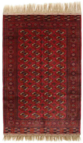 Bokhara/Yamut Rug 160X244 Authentic  Oriental Handknotted Dark Red (Wool, Turkmenistan/Russia)