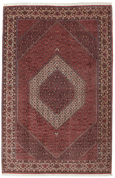 Bidjar Takab/Bukan Rug 207X317 Authentic  Oriental Handknotted Dark Brown/Dark Red (Wool, Persia/Iran)