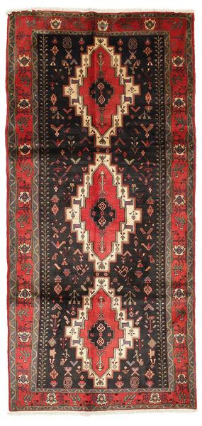 Kurdi Rug 150X318 Authentic  Oriental Handknotted Black/Dark Red (Wool, Persia/Iran)