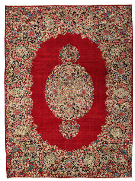 Kerman Patina Rug 277X374 Authentic  Oriental Handknotted Light Brown/Dark Red Large (Wool, Persia/Iran)