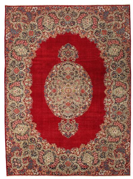 Kerman Patina Tapis 277X374 D'orient Fait Main Rouge Foncé/Marron Clair Grand (Laine, Perse/Iran)