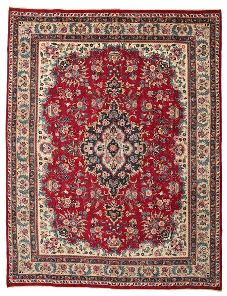 Mashad Patina Matto 291X380 Itämainen Käsinsolmittu Tummanruskea/Punainen Isot (Villa, Persia/Iran)