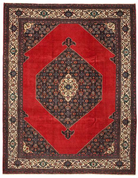Hamadan Patina Matta 271X348 Äkta Orientalisk Handknuten Roströd/Mörkröd/Ljusbrun Stor (Ull, Persien/Iran)