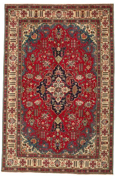 Tabriz Patina Rug 196X302 Authentic  Oriental Handknotted Dark Red/Dark Grey (Wool, Persia/Iran)