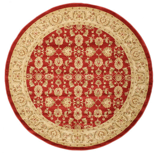 Ziegler Kaspin - Red Rug Ø 250 Oriental Round Rust Red/Light Brown Large ( Turkey)