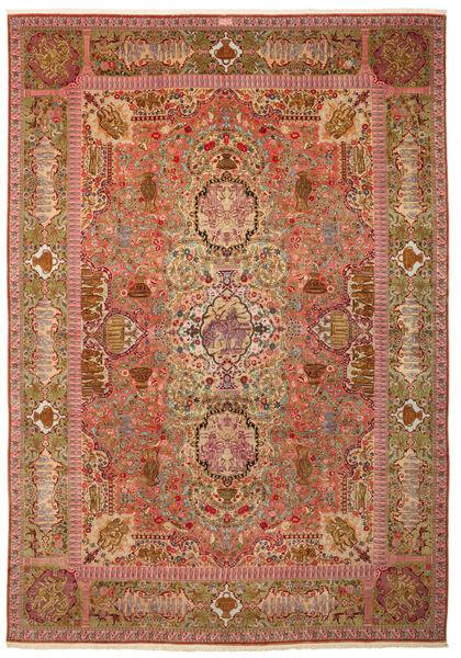 Tabriz 60 Raj silkesvarp signerad: Nezam matta VAC150