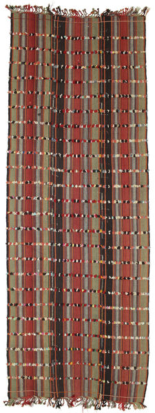 Kilim Konya Cicim Rug 161X433 Authentic  Oriental Handwoven Hallway Runner  Brown/Dark Brown (Wool, Turkey)