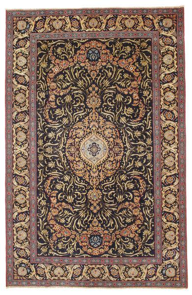 カシャン パティナ 絨毯 218X340 オリエンタル 手織り 薄茶色/濃いグレー (ウール, ペルシャ/イラン)