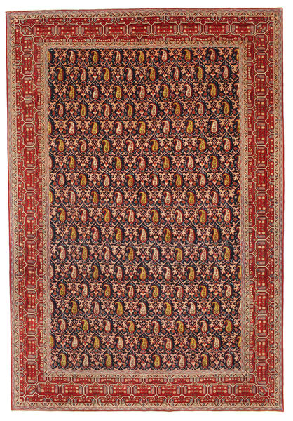 Najafabad Patina Rug 252X370 Authentic  Oriental Handknotted Dark Red/Light Brown Large (Wool, Persia/Iran)
