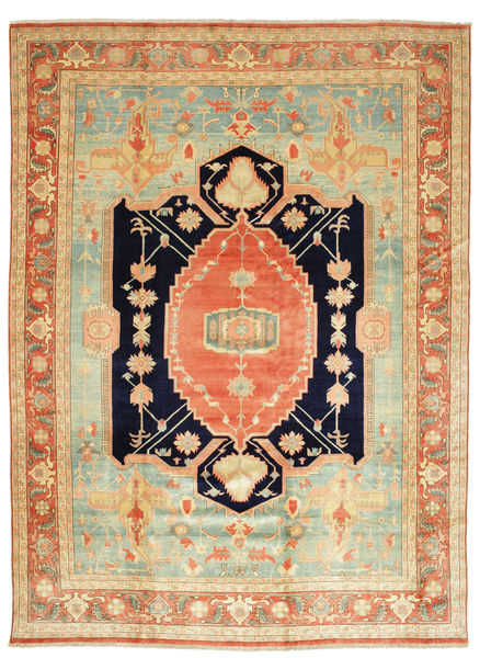 Heriz Rug 405X540 Authentic  Oriental Handknotted Light Brown/Orange Large (Wool, Persia/Iran)