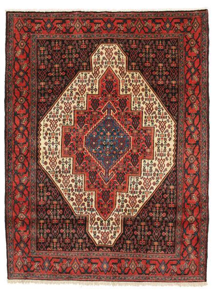 Senneh Vloerkleed 128X169 Echt Oosters Handgeknoopt Donkerrood/Donkergrijs (Wol, Perzië/Iran)
