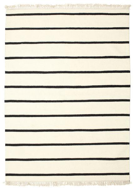 Dorri Stripe - Valkoinen/Musta Matto 160X230 Moderni Käsinkudottu Beige (Villa, Intia)