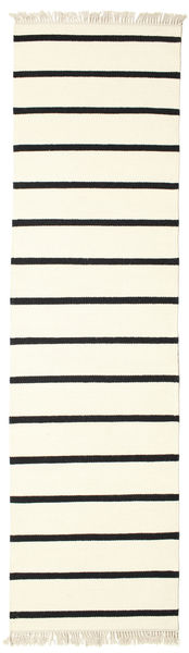 Dhurrie Stripe - White / Black rug CVD1660