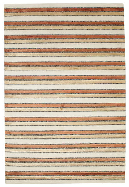 Pacific Line - Beige Rug 140X200 Authentic  Modern Handknotted Light Brown/Dark Beige ( India)