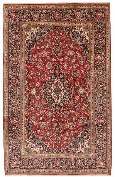 Keshan Alfombra 196X311 Oriental Hecha A Mano Rojo Oscuro/Marrón Oscuro (Lana, Persia/Irán)