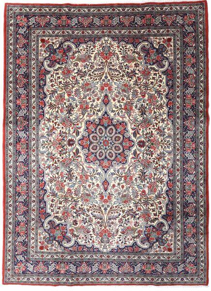 Sarough Sherkat Farsh Tapijt 220X301 Echt Oosters Handgeknoopt Lichtbruin/Donkerbruin (Wol, Perzië/Iran)