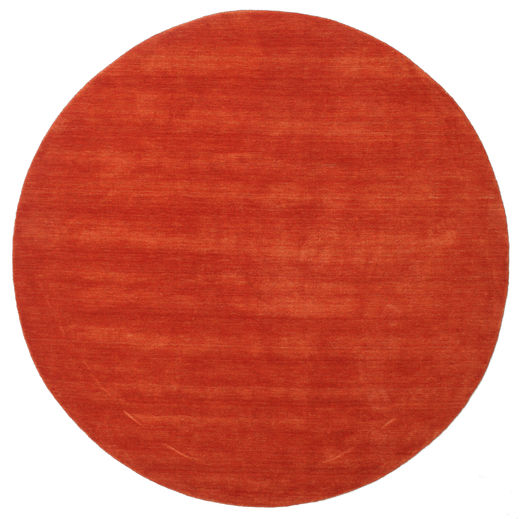 Handloom - Rust/Red Rug Ø 250 Modern Round Rust Red Large (Wool, India)