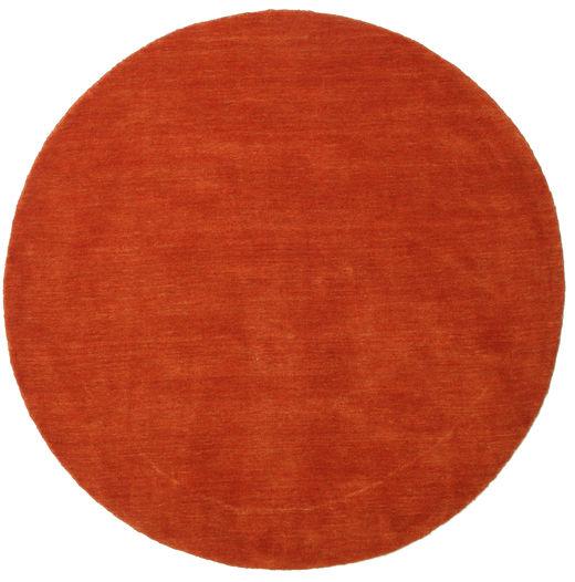 Handloom - Rust/Red Rug Ø 150 Modern Round Orange/Rust Red (Wool, India)