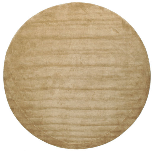 Handloom - Beige Rug Ø 300 Modern Round Light Brown Large (Wool, India)