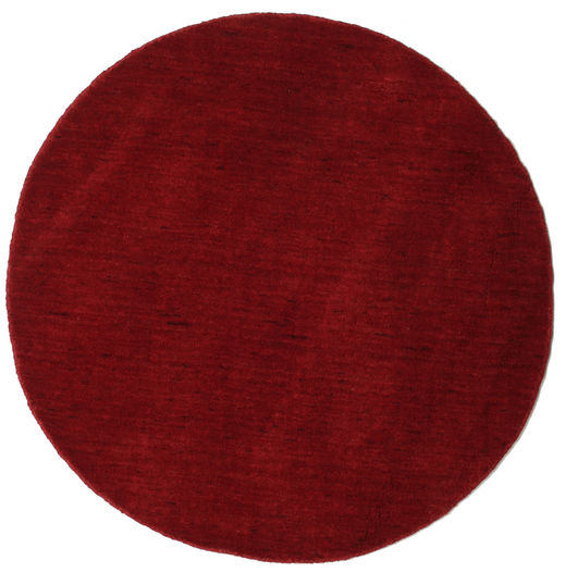 Handloom - Dark Red Rug Ø 100 Modern Round Dark Red (Wool, India)