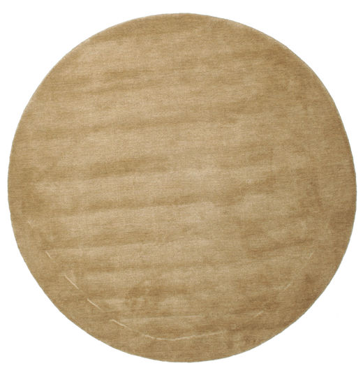 Handloom - Beige Rug Ø 150 Modern Round Light Brown (Wool, India)