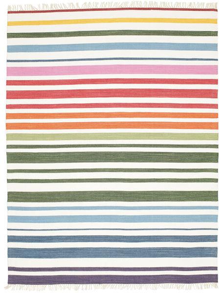 Rainbow Stripe - Valkoinen-matto CVD1765