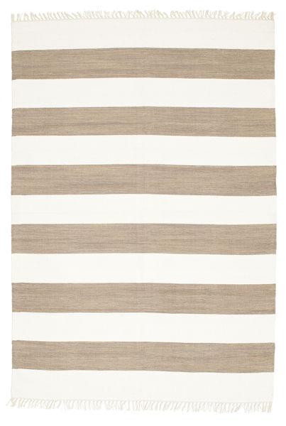 Cotton Stripe - Brown Rug 160X230 Authentic  Modern Handwoven Beige/Light Brown (Cotton, India)