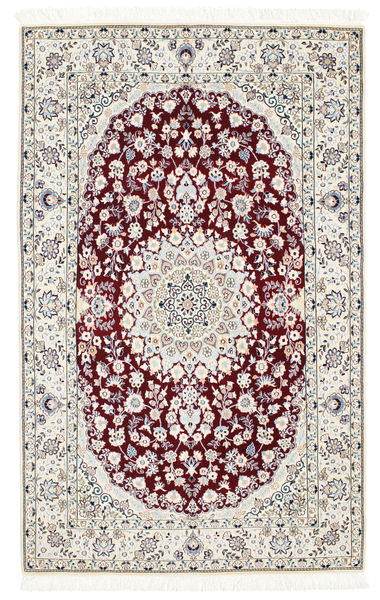 Nain 6La Matto 108X175 Itämainen Käsinsolmittu Beige/Valkoinen/Creme (Villa/Silkki, Persia/Iran)