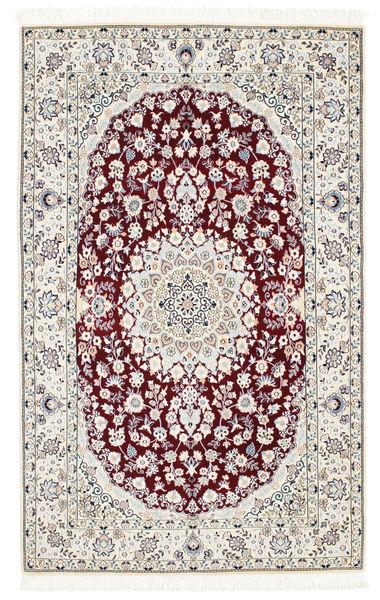 Nain 6La Rug 108X175 Authentic  Oriental Handknotted Light Grey/Beige (Wool/Silk, Persia/Iran)