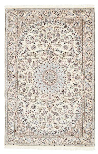 Nain 6La Matta 114X176 Äkta Orientalisk Handknuten Beige/Vit/Cremefärgad (Ull/Silke, Persien/Iran)