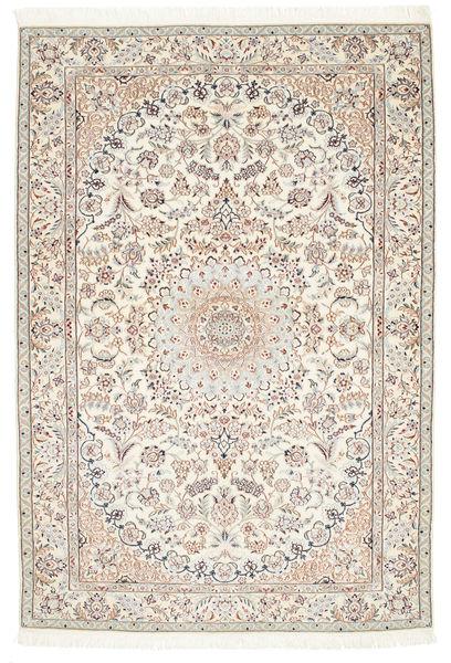 Nain 6La Matta 126X184 Äkta Orientalisk Handknuten Beige/Ljusbrun (Ull/Silke, Persien/Iran)