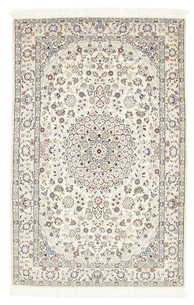 Nain 6La Matto 101X157 Itämainen Käsinsolmittu Beige/Tummanbeige (Villa/Silkki, Persia/Iran)