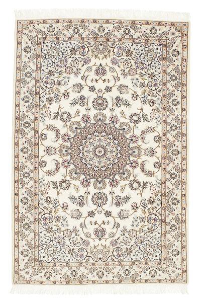 Nain 6La Matta 102X155 Äkta Orientalisk Handknuten Beige/Ljusgrå (Ull/Silke, Persien/Iran)