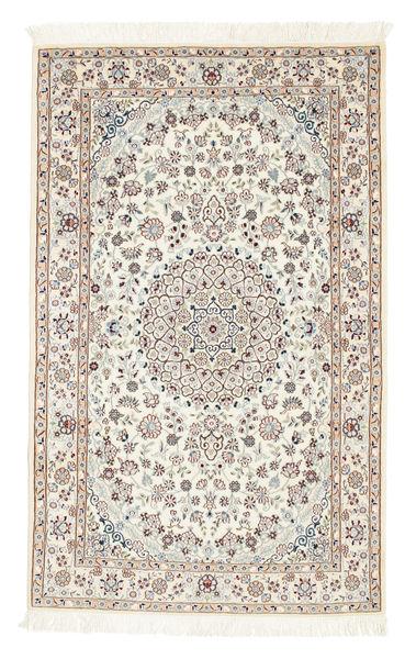 Nain 6La Matto 100X160 Itämainen Käsinsolmittu Beige/Vaaleanruskea (Villa/Silkki, Persia/Iran)