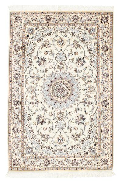 Nain 6La Matto 100X152 Itämainen Käsinsolmittu Beige/Vaaleanruskea (Villa/Silkki, Persia/Iran)