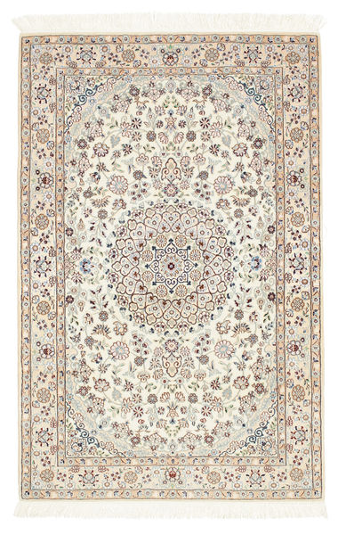 Nain 6La Rug 100X156 Authentic  Oriental Handknotted Beige/Light Grey (Wool/Silk, Persia/Iran)