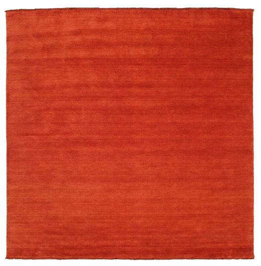 Handloom Fringes - Rust/Red Rug 250X250 Modern Square Rust Red Large (Wool, India)