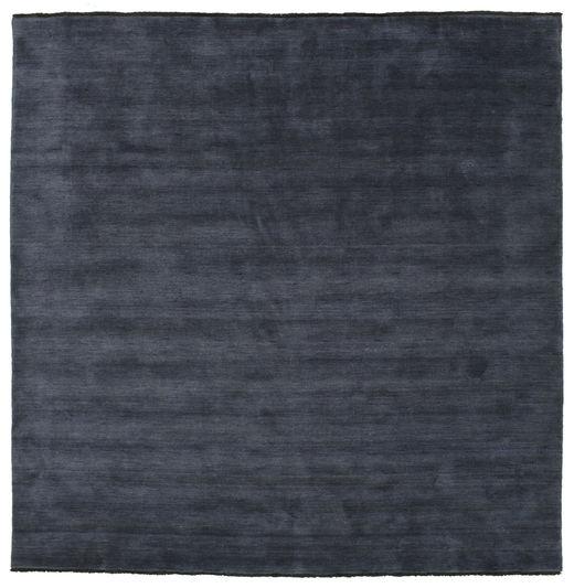 Handloom Fringes - Ciemnoniebieski Dywan 250X250 Nowoczesny Kwadratowy Ciemnoniebieski/Ciemnoszary Duży (Wełna, Indie)