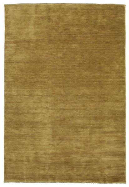 Handloom Fringes - Olive Green Rug 220X320 Modern Olive Green/Brown (Wool, India)