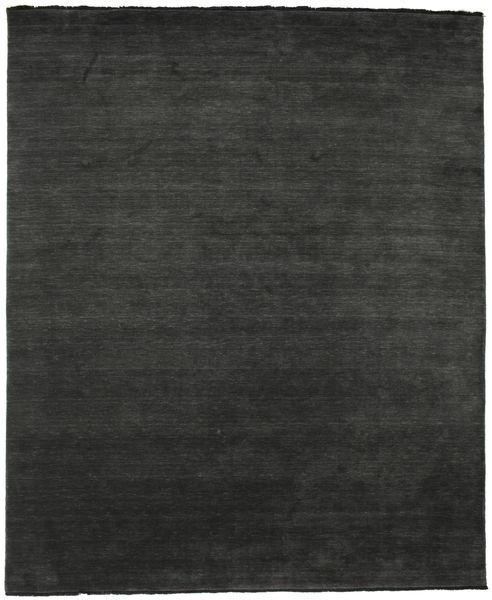 Handloom fringes - Schwarz / grau Teppich CVD5472