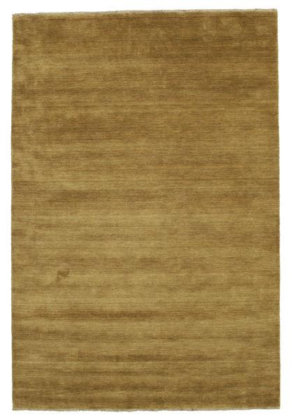 Handloom Fringes - Olivgrön Matta 200X300 Modern Brun/Olivgrön (Ull, Indien)