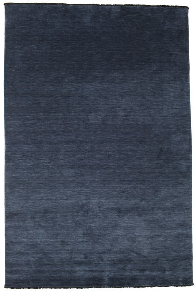 Tapete Handloom fringes - Azul escuro CVD5448