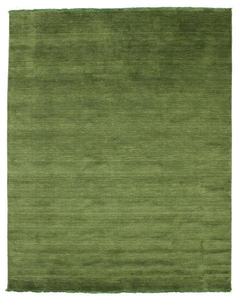 Handloom fringes - Green rug CVD5282