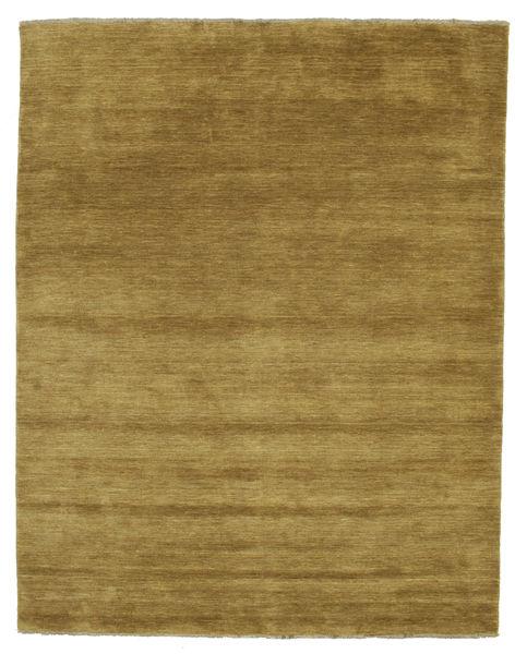 Handloom Fringes - Olijfgroen Vloerkleed 200X250 Modern Olijfgroen/Bruin (Wol, India)