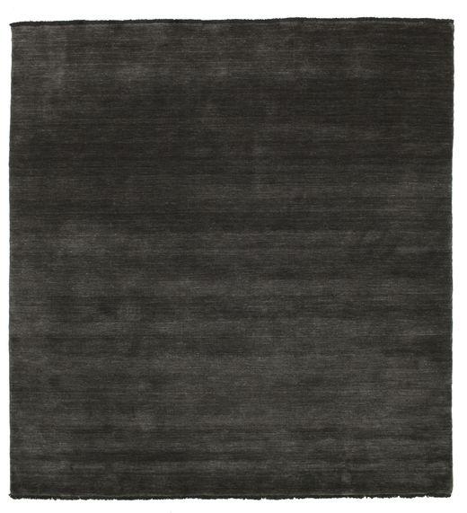 Handloom Fringes - Black/Grey Rug 200X200 Modern Square Dark Grey (Wool, India)