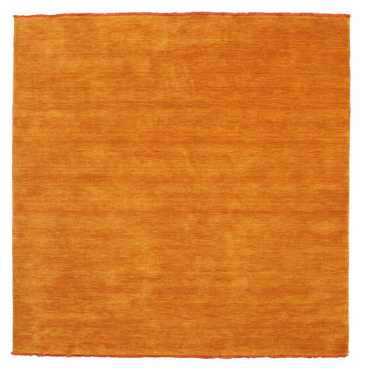 Handloom Fringes - Orange Matta 200X200 Modern Kvadratisk Orange (Ull, Indien)